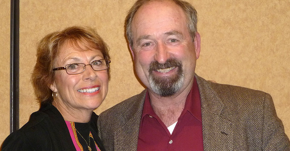 Scott Frazier pictured with Rosie Sylvester, former WHPE president and president_elect of the Midwest District Association.