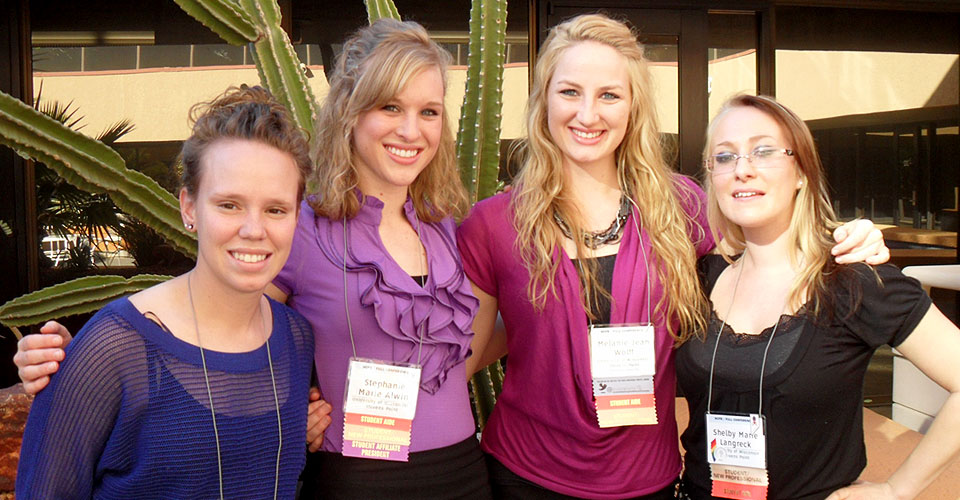 Nicole Bruhn, Stephanie Alwin, Melanie Wolff, Shelby Langreck at NCFR in Phoenix.