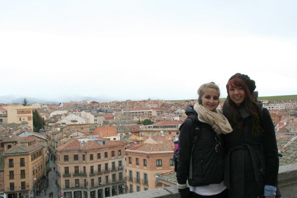 My friend Alain and I with Segovia in the background.