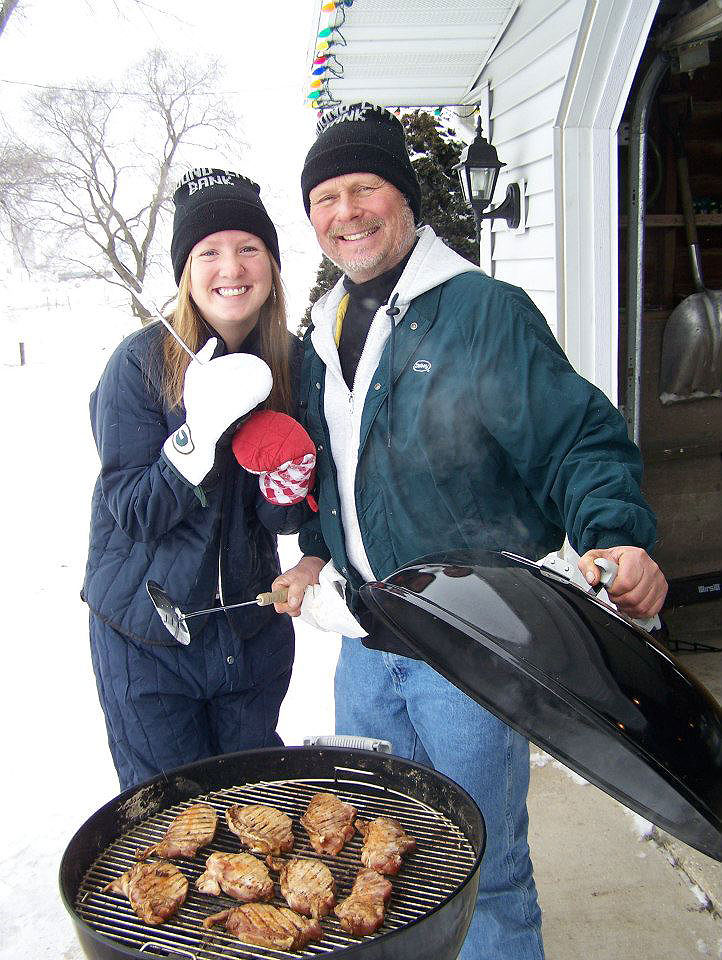 Brittany-Grilling-with-Dad
