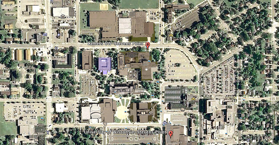 Stevens Point Campus Map.See Uwsp In 3d College Of Professional Studies University Of