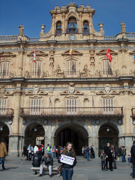 In plaza mayor in Salamanca