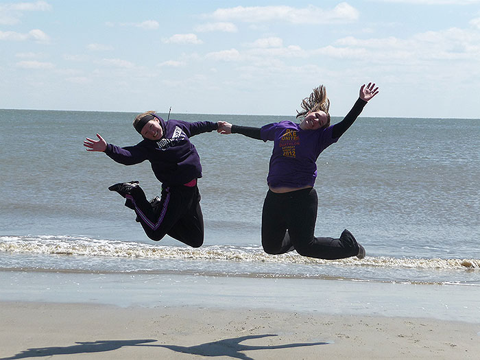 Jumping-on-the-Beach