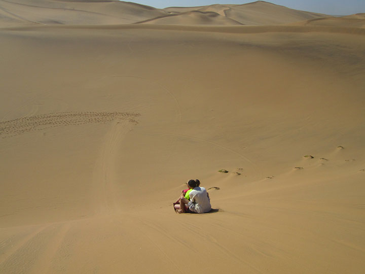 sand-sledding