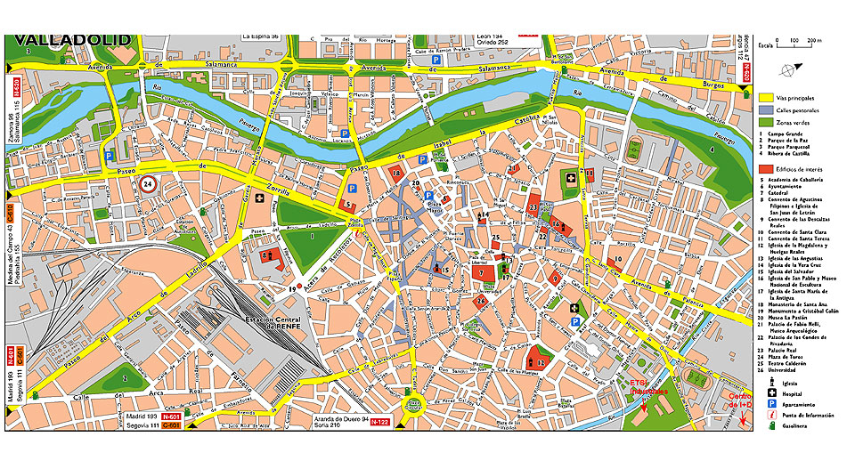 Map Of Spain Valladolid.Urban Planning Of Valladolid College Of Professional Studies