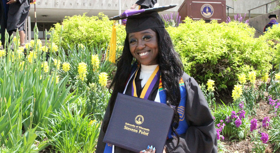 Kae James graduated from UW-Stevens Point with a degree in business administration-management.