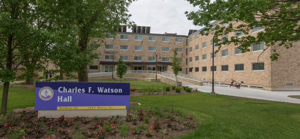 Alyssa Deem gives students tips for saving space in the residence halls on campus.