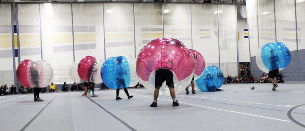 Have you seen battle balls? Centertainment offered a fun night of bubble soccer!