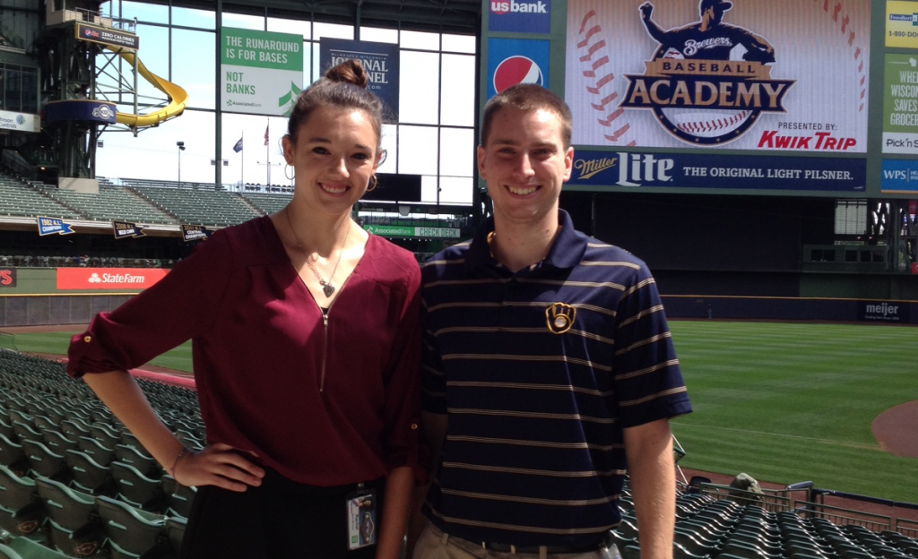 Val Every interviewed UW-Stevens Point senior Rachel Gasper about her summer internship at Miller Park in Milwaukee, Wisconsin.