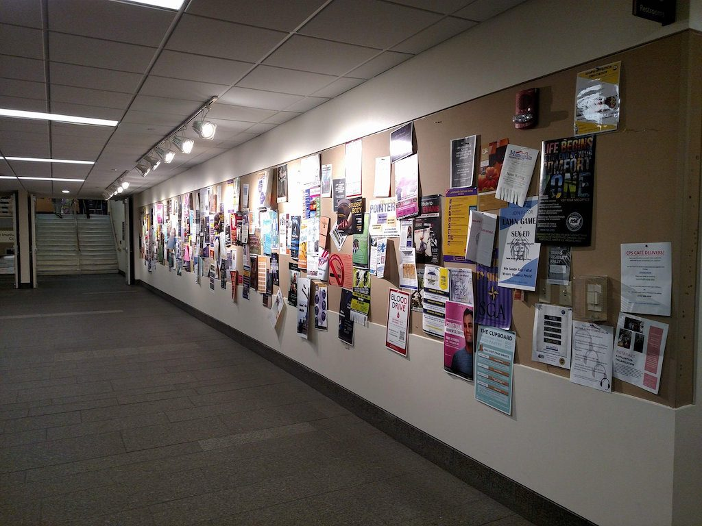 DUC Concourse Bulletin Board