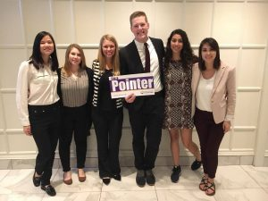 UW-Stevens Point PRSSA group with I'm a Pointer sign